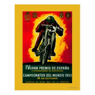Gran Premio de Espana Vintage PosterEurope Cartão Postal