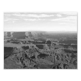 Grand Canyon de B&W Impressão De Foto