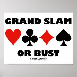 Grand slam ou busto (ternos do cartão da ponte) poster