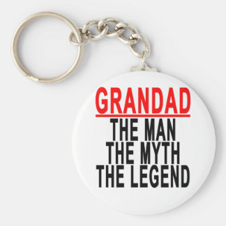 Grandad o homem o mito a legenda Shirts.png Chaveiro