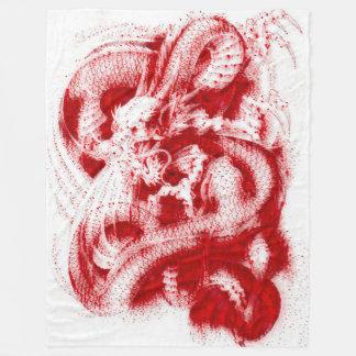 Grande acrílico chinês do sangue de dragão do cobertor de lã