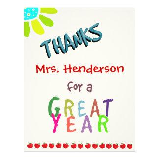 Grande ano, cartões de agradecimentos da sala de a panfleto personalizados