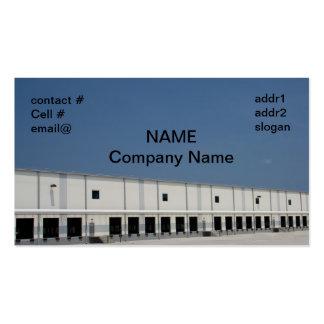 grande armazém de distribuição do frete cartão de visita