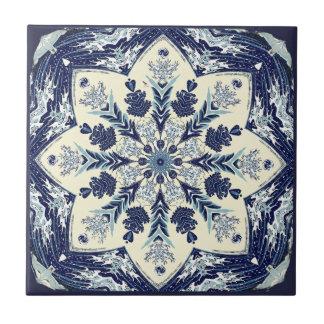 Grande azulejo azul Deconstructed da mandala da