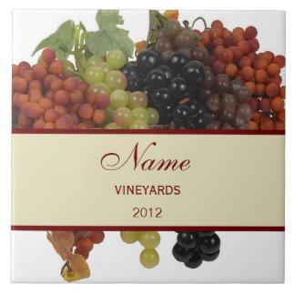 Grande azulejo personalizado Trivet do vinho