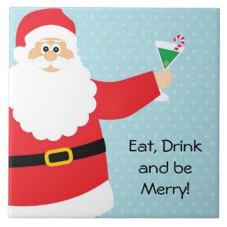 Grande azulejo Trivet do Natal engraçado