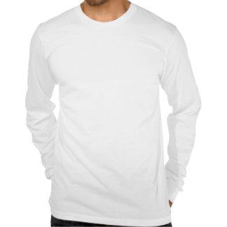 Grande branco sleeved longo da camisa dos homens camisetas