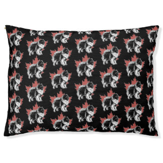 Grande cama exterior do cão do tecido