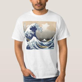 Grande camisa da onda T