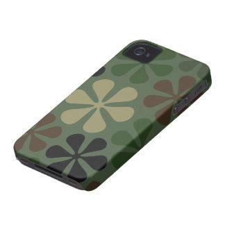 Grande camuflagem abstrata das flores capa para iPhone