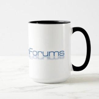 Grande caneca de sete fóruns