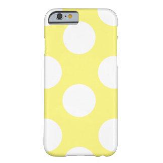 Grande capa de telefone amarela e branca das capa barely there para iPhone 6