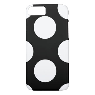 Grande capa de telefone preto e branco das