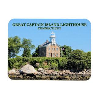 Grande capitão Ilha Farol, ímã da foto do CT