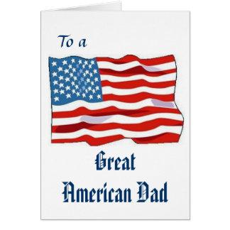 Grande cartão americano do pai