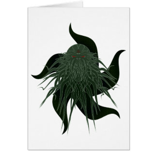 Grande cartão Customisable de Cthulhu
