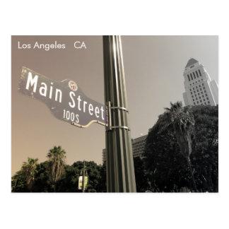 Grande cartão de Los Angeles do estilo do vintage!
