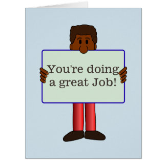 Grande cartão de trabalho