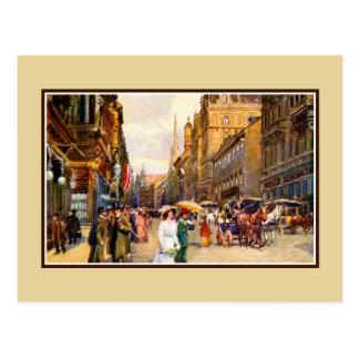Grande cena Viena Áustria da época do belle do Cartão Postal