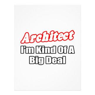 Grande coisa do arquiteto… modelos de panfleto