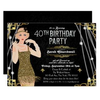 Grande convite do aniversário da menina do Flapper