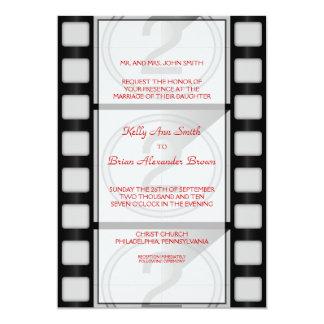 Grande convite retangular do cinema