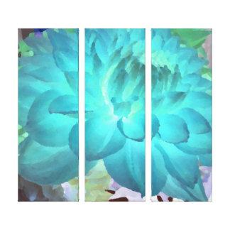 Grande dália do azul do Aqua Impressão Em Tela