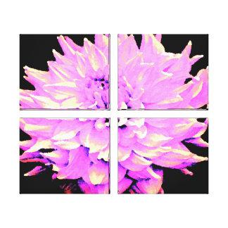 Grande dália do Lilac Impressão Em Tela