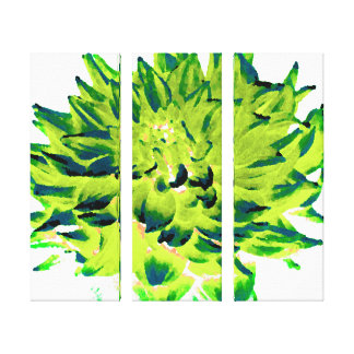 Grande dália verde impressão em tela