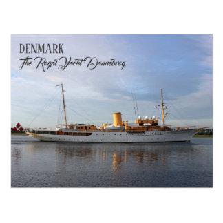 Grande Dinamarca, o cartão real de Dannebrog do
