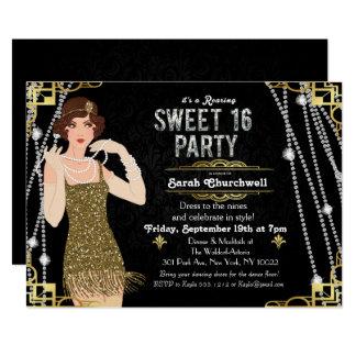Grande doce do Flapper de Gatsby convite de 16