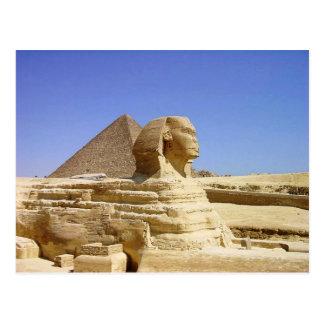 Grande esfinge do cartão de Giza