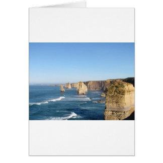 Grande estrada do oceano cartão comemorativo