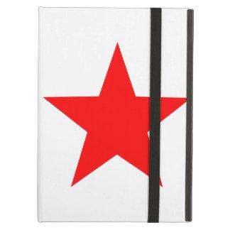 Grande estrela vermelha contínua simples no branco