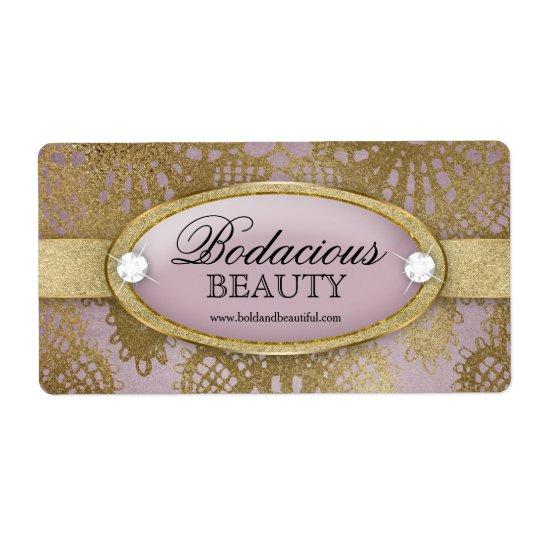 Grande etiqueta do laço malva Bodacious do ouro da Etiqueta De Frete