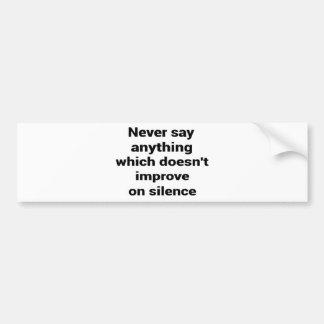 Grande frase simples legal de tao da filosofia da adesivo de para-choque