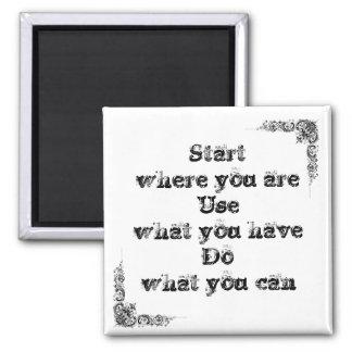 Grande frase simples legal de tao da filosofia da  ímã quadrado