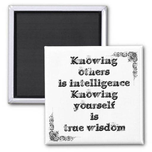 Grande frase simples legal de tao da filosofia da  imã de geladeira