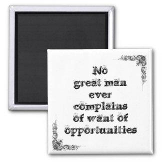 Grande frase simples legal t de tao da filosofia ímã quadrado
