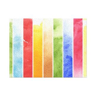 grande fundo da aguarela - pinturas 4 da aguarela impressão em tela