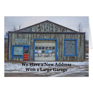 Grande garagem - mudança de endereço engraçada cartão comemorativo