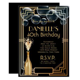 Grande Gatsby inspirou o convite do aniversário do