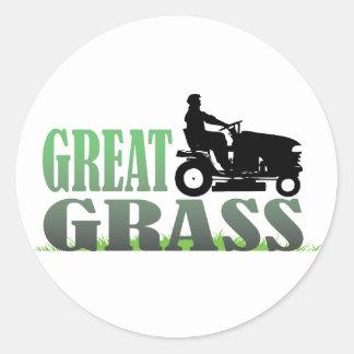 Grande grama adesivo