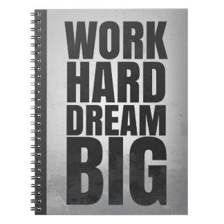 Grande ideal duro do trabalho: Caderno inspirador
