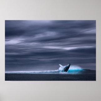 Grande impressão grande do poster do oceano & da