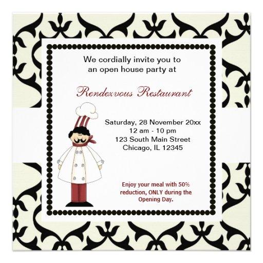 Grande inauguração convites personalizado