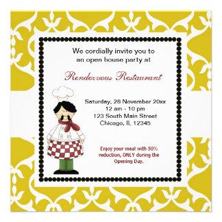 Grande inauguração convite personalizados
