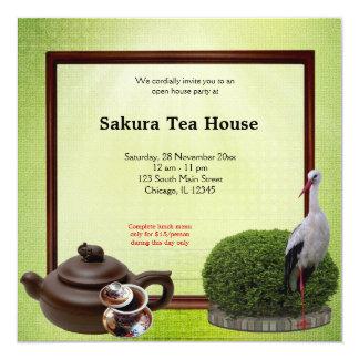 Grande inauguração da casa de chá convites personalizado