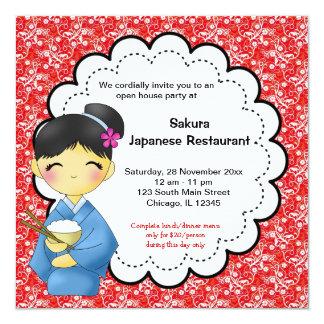 Grande inauguração japonesa convite