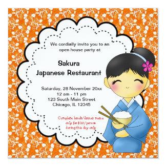 Grande inauguração japonesa convite personalizados